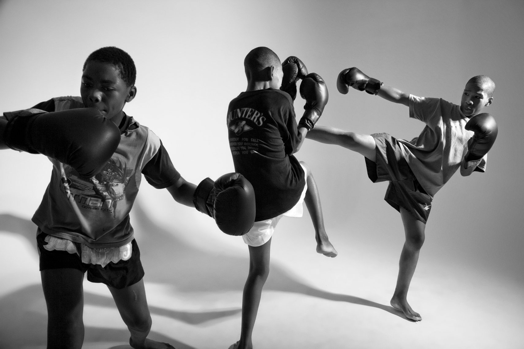 Children boxing in South Africa