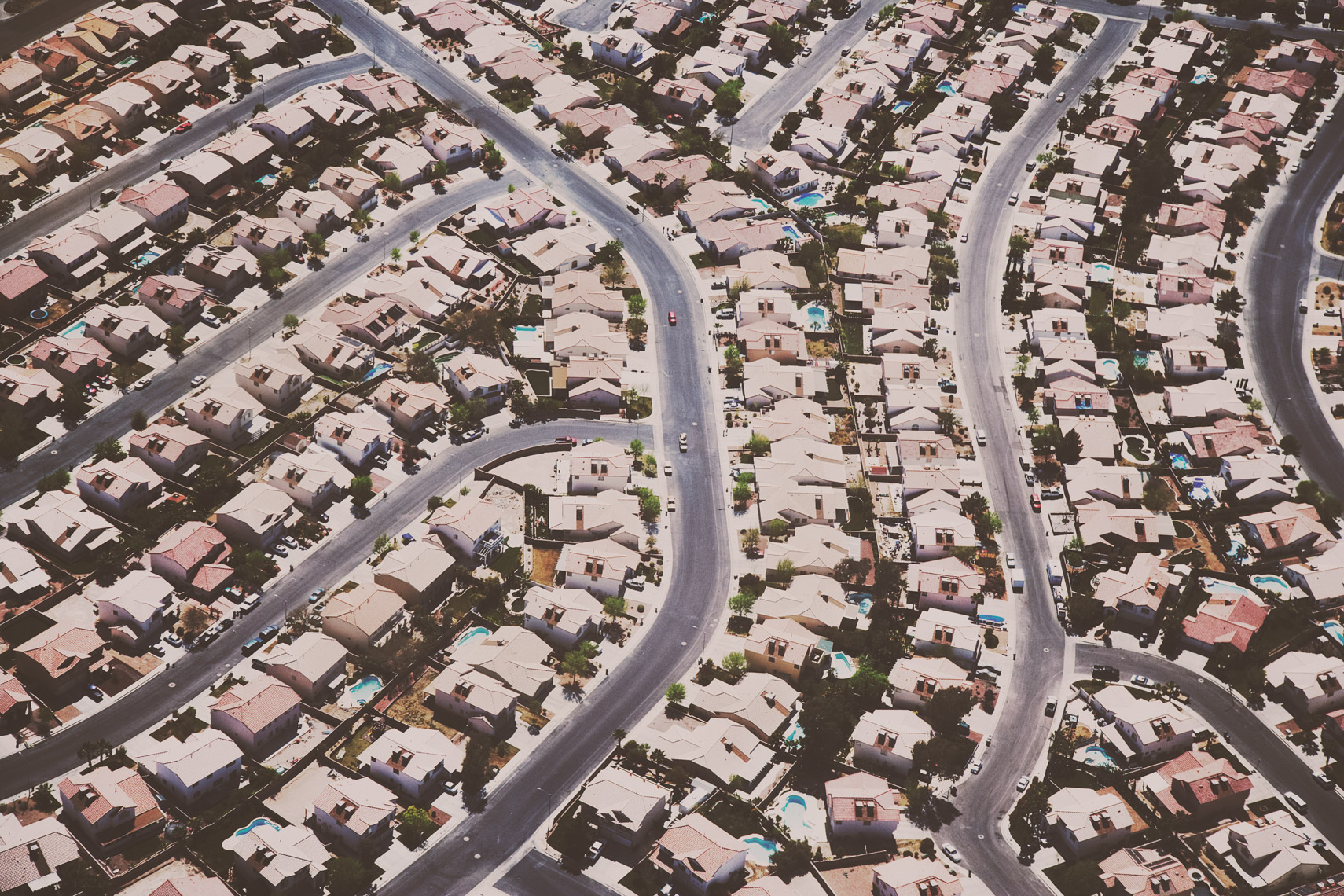 Aerial view of homes in North Las Vegas, Nevada